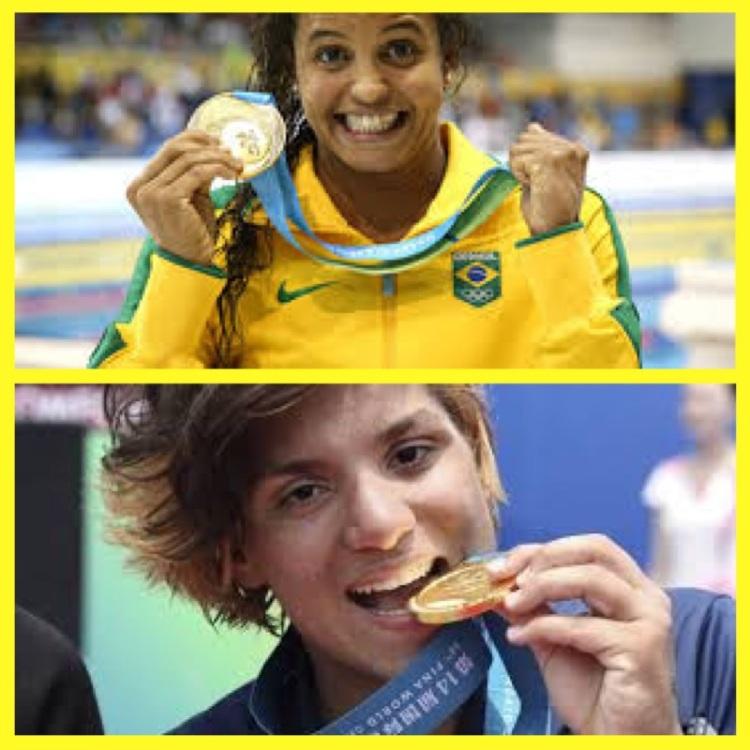 Foto 22 - Nadadoras Etiene Medeiros e Ana Marcela
